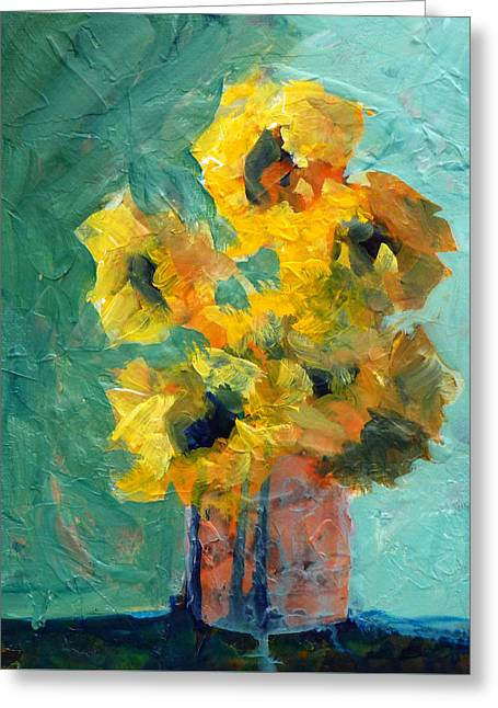 Sun And Shadow Greeting Card by Nancy Merkle