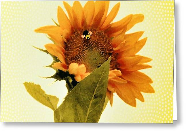 Green And Yellow Greeting Cards - Summer Sunsation Greeting Card by Anita Faye