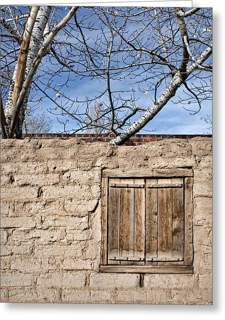 Wooden Shutter Greeting Cards - Sun-Baked Greeting Card by Nikolyn McDonald