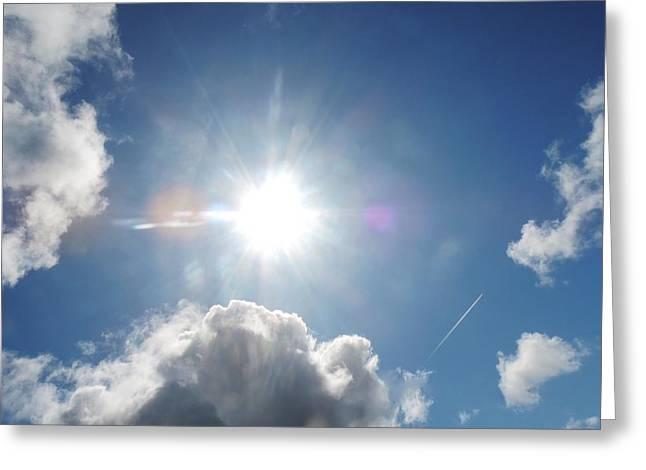 Sun Behind Clouds Greeting Cards - Sun Behind Clouds 2  Greeting Card by David G Bevan