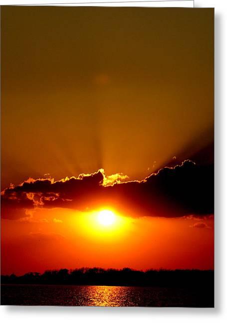 Sun Breaking Through Clouds Greeting Cards - Sun Break Greeting Card by Lauren Pretorius