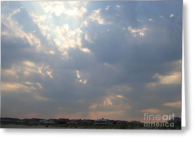 Sun Breaking Through Clouds Photographs Greeting Cards - Sun Breaking Through Greeting Card by B Rossitto