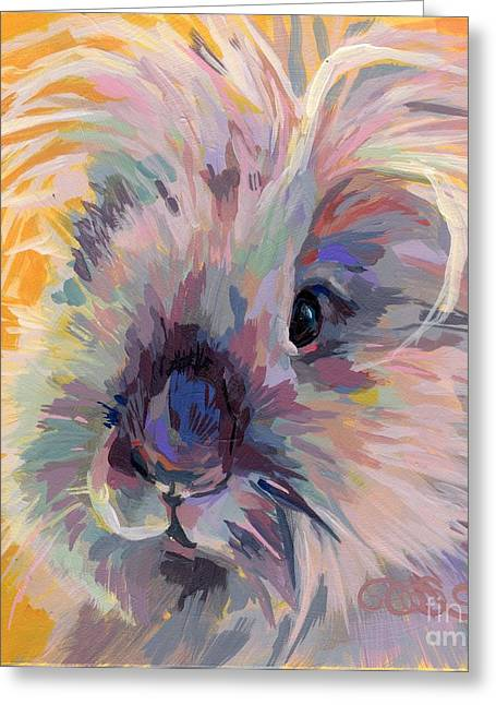 Bunny Greeting Cards - Sun Bun Greeting Card by Kimberly Santini