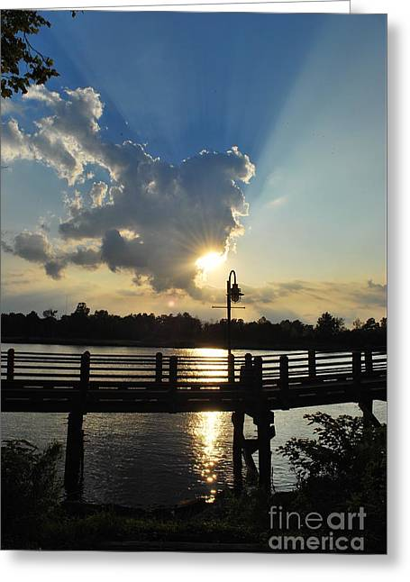 Interior Scene Greeting Cards - Sun Burst Greeting Card by Bob Sample