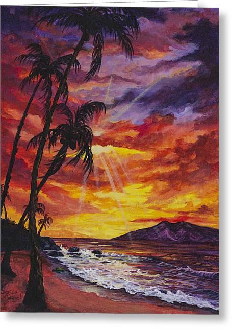 Burst Paintings Greeting Cards - Sun Burst Greeting Card by Darice Machel McGuire