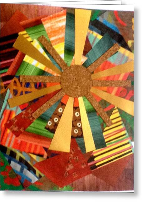 Pop Reliefs Greeting Cards - Sun Burst Greeting Card by Paul Meinerth