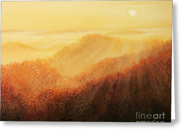 Sun Rays Paintings Greeting Cards - Sun Caress Greeting Card by Kiril Stanchev