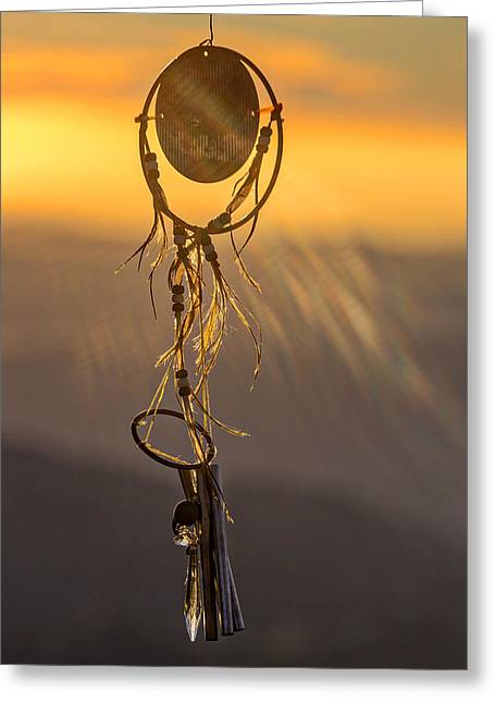 Amulets Greeting Cards - Sun Catcher Greeting Card by Peter Tellone