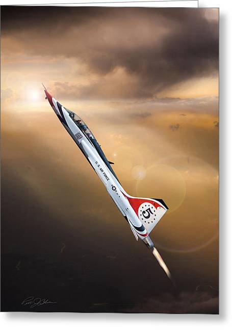 Interceptor Greeting Cards - Sun Chaser 5 T-38 Greeting Card by Peter Chilelli