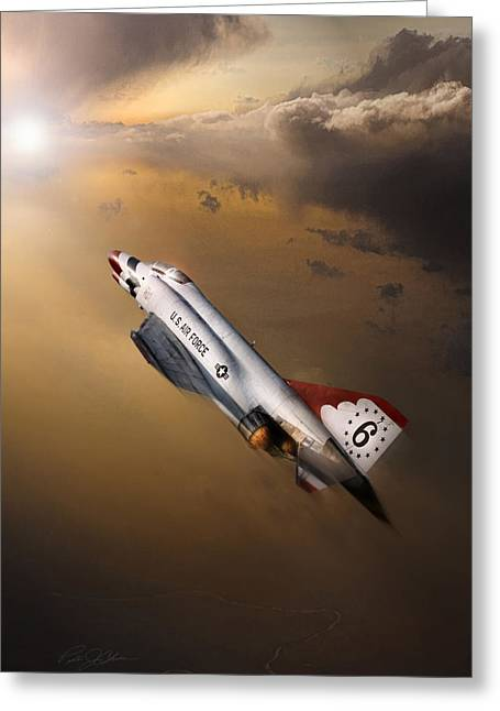 Thunderbird Greeting Cards - Sun Chaser 6 Greeting Card by Peter Chilelli