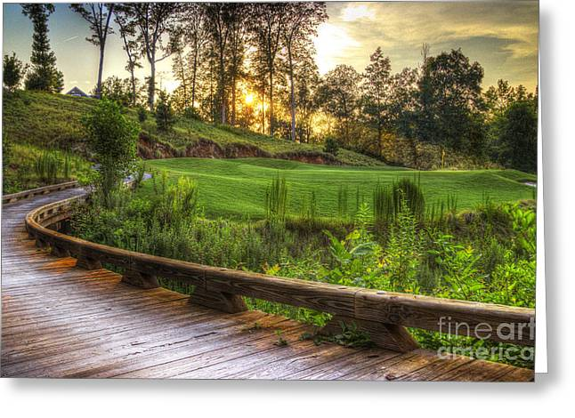 Clear Sky Images Greeting Cards - Sun City Bridge Greeting Card by Clear Sky Images