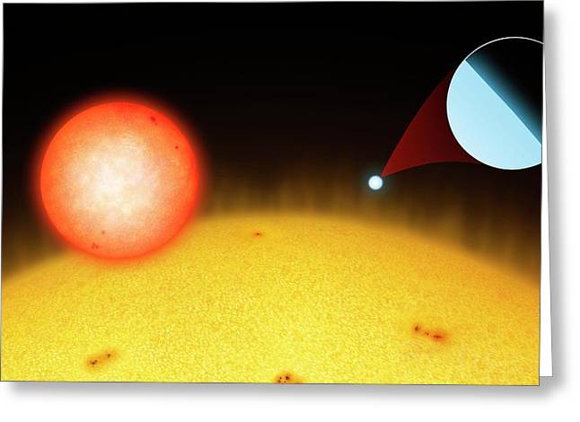 Sun Compared To Small Stars Greeting Card by Mark Garlick