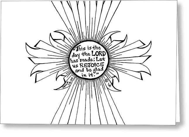 Pen And Paper Greeting Cards - Sun Cross Greeting Card by Leigh Eldred
