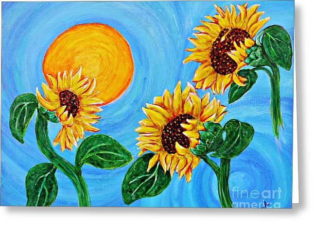 Sarah Loft Paintings Greeting Cards - Sun Dance Greeting Card by Sarah Loft