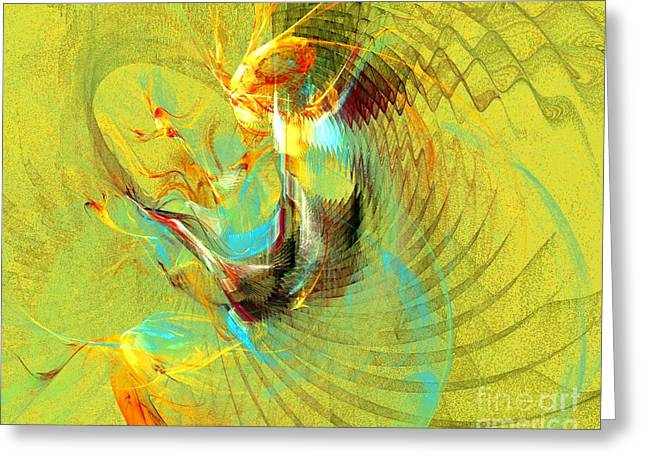 Expressive Native American Indian Greeting Cards - Sun Dancer Greeting Card by Jeanne Liander