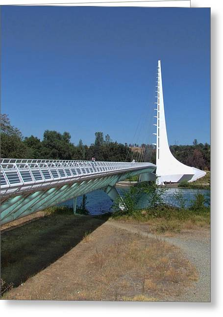 Ron Roberts Photography Greeting Cards Greeting Cards - Sun Dial Bridge 2 Greeting Card by Ron Roberts