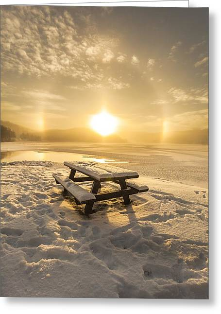 Sunset In Norway Greeting Cards - Sun Dog Greeting Card by Rose-Maries Pictures