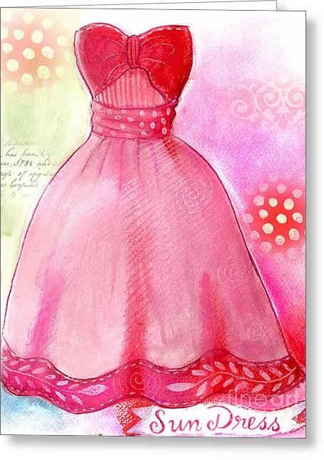 Jackson Pastels Greeting Cards - Sun Dress Greeting Card by Elaine Jackson