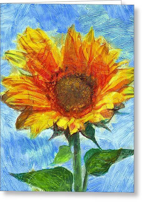 Interior Still Life Digital Art Greeting Cards - Sun flowering 2 Greeting Card by Yury Malkov