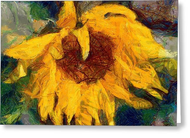 Interior Still Life Digital Art Greeting Cards - Sun flowering 6 Greeting Card by Yury Malkov