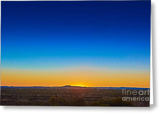 Taos Greeting Cards - Sun Glow Greeting Card by Charles Muhle