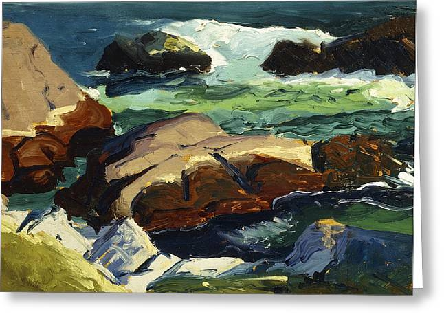 American Artist Greeting Cards - Sun Glow Greeting Card by George Wesley Bellows