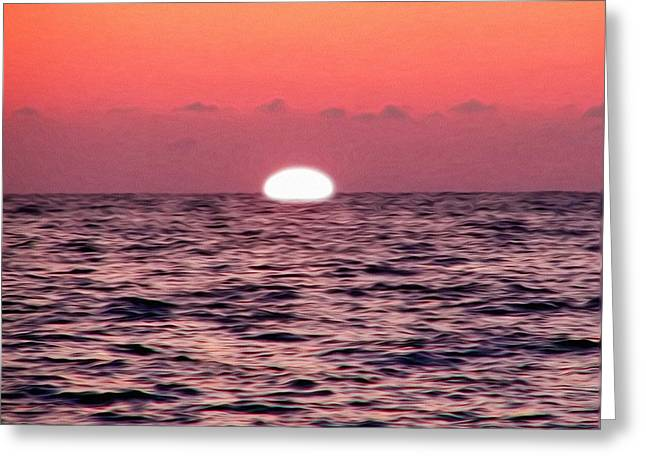 Going Down Greeting Cards - Sun Going Down Greeting Card by Bill Cannon