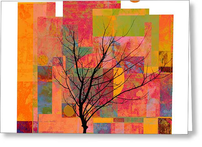 Abstract Digital Mixed Media Greeting Cards - Sun in The City - abstract - art  Greeting Card by Ann Powell