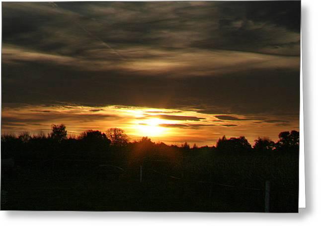 Brandenburg Digital Art Greeting Cards - Sun in the fields 02 Greeting Card by Li   van Saathoff