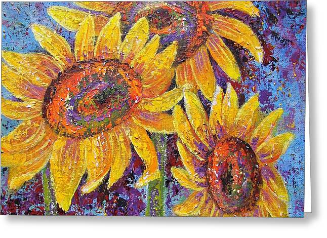 Sun-kissed Beauties Greeting Card by Margaret Bobb