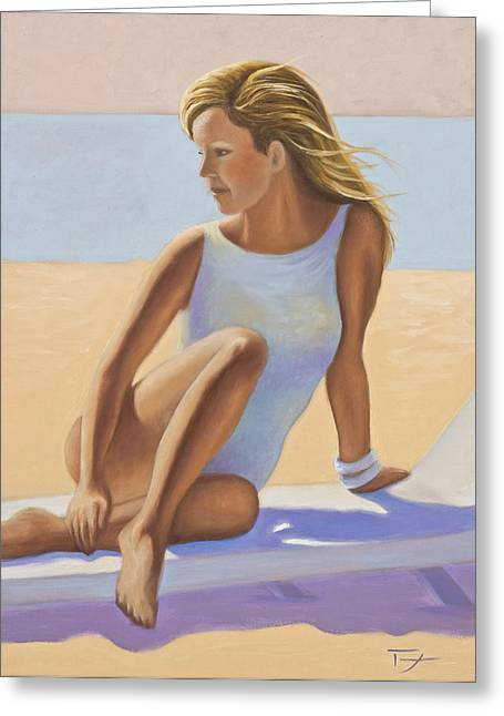 Catherine White Paintings Greeting Cards - Sun Kissed Greeting Card by Catherine Tarbox