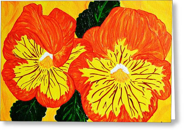 Tangerine Greeting Cards - Sun Kissed Greeting Card by Celeste Manning