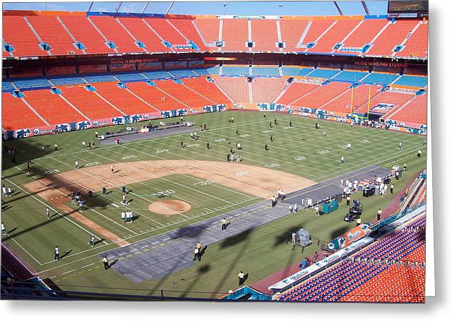 Pro Football Greeting Cards - Sun Life Stadium Greeting Card by Nomad Art And  Design