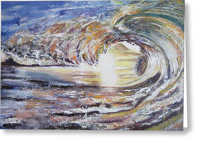 Sienna Greeting Cards - Sun light wave Greeting Card by Ordy Duker
