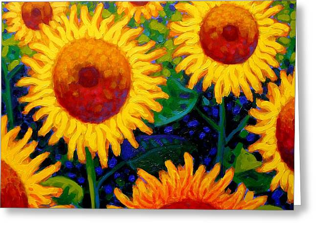 Vincent Paintings Greeting Cards - Sun Lovers II Greeting Card by John  Nolan