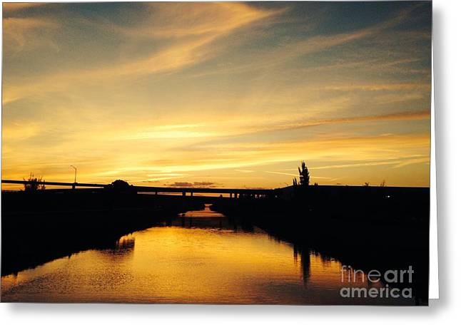 Beach Photograph Pyrography Greeting Cards - Sun of a bridge   Greeting Card by Charles Caglar Unal