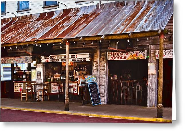 Sign In Florida Photographs Greeting Cards - Sun On the Beach Bar Greeting Card by Greg Jackson
