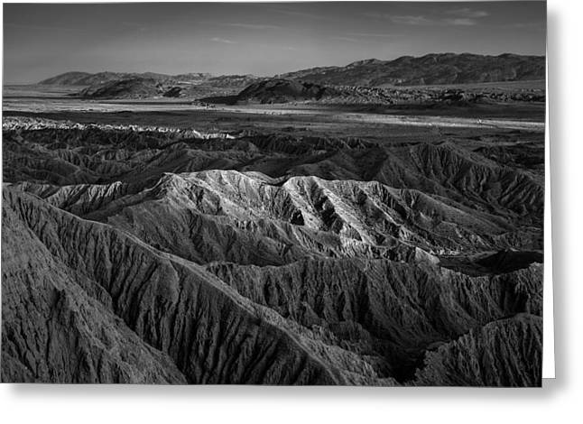 Points Greeting Cards - Sun on the Borrego Badlands Greeting Card by Peter Tellone