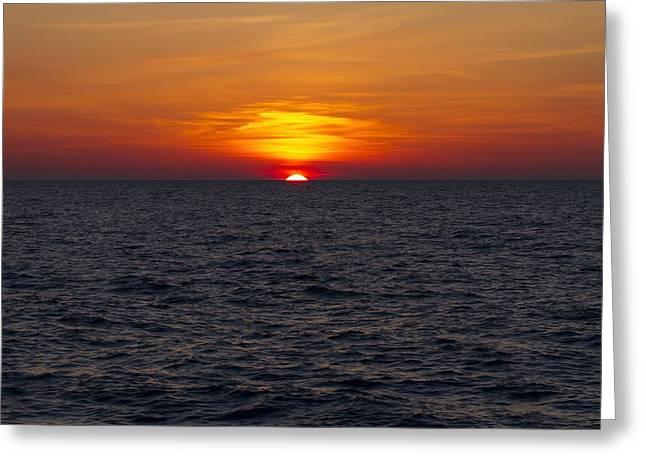 Lake Michgan Greeting Cards - Sun peaks Greeting Card by Sven Brogren