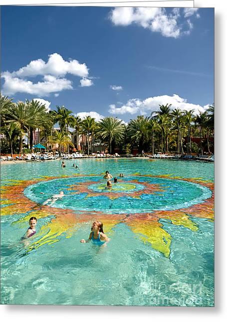 Atlantis Greeting Cards - Sun Pool Atlantis Greeting Card by Amy Cicconi