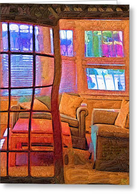 Sun Porch Greeting Card by Kirt Tisdale