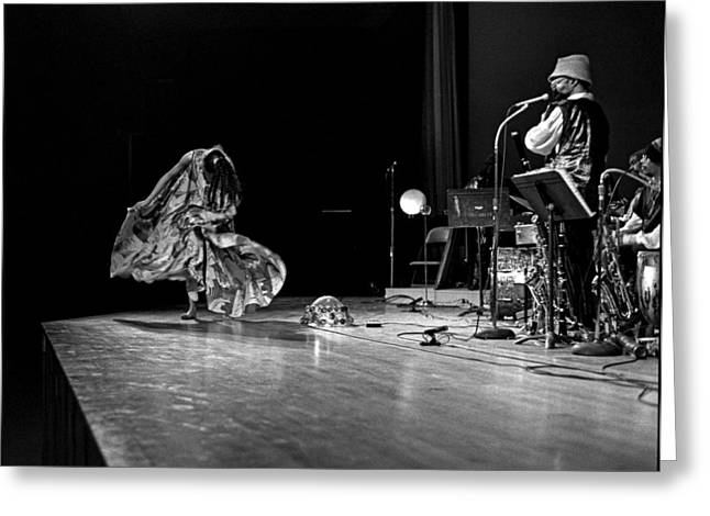 Uc Davis Photographs Greeting Cards - Sun Ra Dancer and Marshall Allen Greeting Card by Lee  Santa