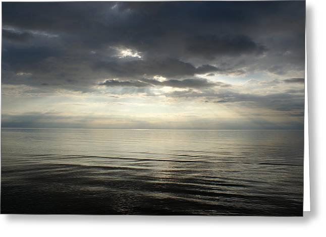 Sun Rays At Sunset Greeting Card by Gynt