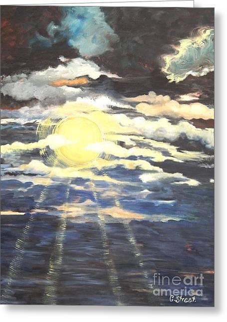 Sun Rays Paintings Greeting Cards - Sun Rays Greeting Card by Caroline Street