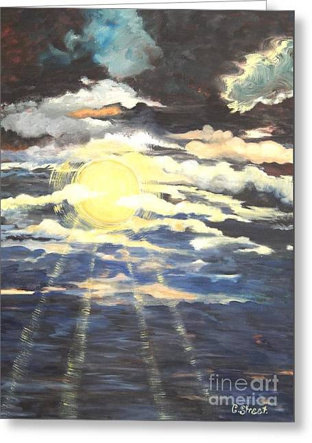 Rays Of Light Greeting Card by Caroline Street
