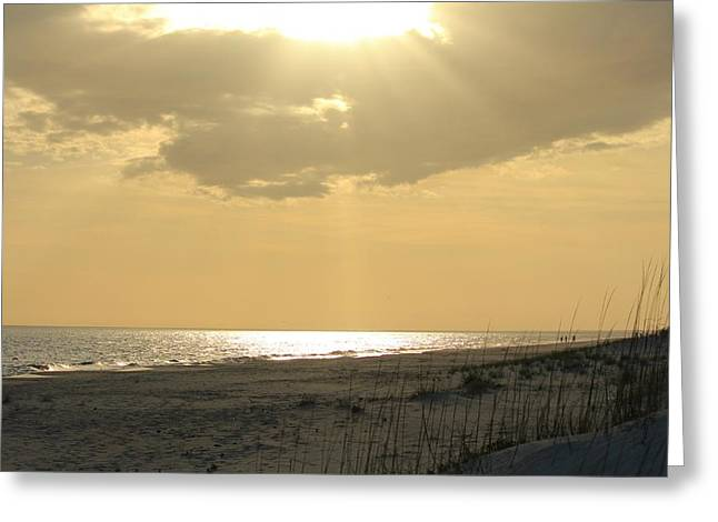 Overcast Day Greeting Cards - Sun Rays Greeting Card by Cynthia Guinn