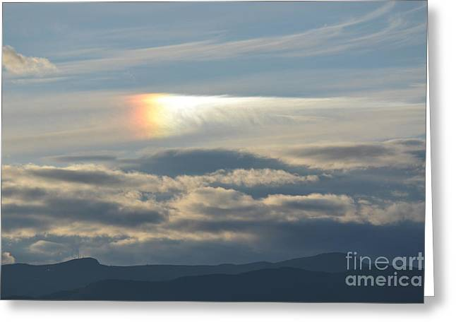 Newengland Greeting Cards - Sun Reflection over Mt Mansfield Greeting Card by Susan Russo