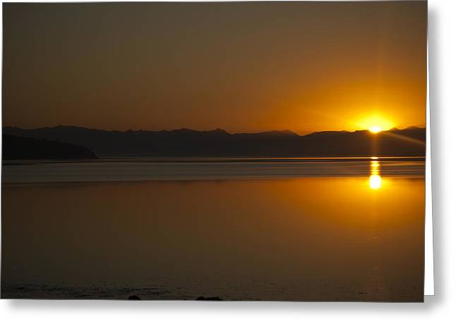 Framed Whidbey Prints Greeting Cards - Sun Rise at Penn Cove Greeting Card by Ron Roberts