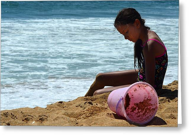 Ocean Shore Digital Greeting Cards - Sun Sand And Surf Greeting Card by Camille Lopez