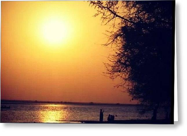 Sun Jewelry Greeting Cards - Sun Set Greeting Card by Maha Omer